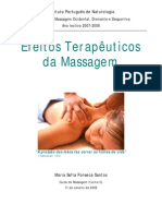 Efeitos Terapêuticos da Massagem
