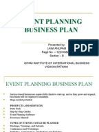Business plan template for event planning