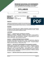 Ee-615 Control ISYLLABUS