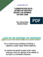 Presentaciòn Implementaciòn de Sistemas de Gestion_ Colombia Esl Sas