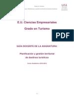 Planificacion y Gestion Territorial Destinos Turistico(Info)