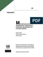 Metodologia Gen de Identificacion Preparacion y Evaluacion de Pips - Ilpes Ortegon Pacheco y Roura