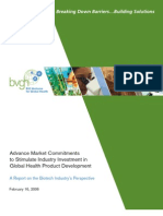 A Report on Biotech Industry's Perspective, 2006
