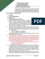 Actividad Individual - Problemas de Programación Lineal Con Excel