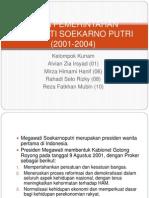 Masa Pemerintahan Megawati Soekarno Putri (2001-2004)