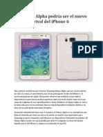 El Galaxy Alpha Podría Ser El Nuevo Rival Del iPhone 6