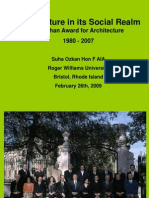 Architecture in Its Social Realm