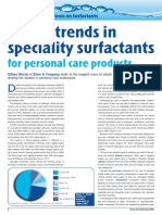 Global Trends in Speciality Surfactants