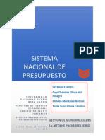Sistema Nacional de Presupuesto Público
