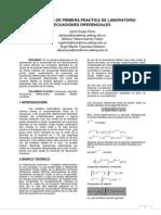 Informe de Primera Practica de Laboratorio Ecuaciones Diferenciales