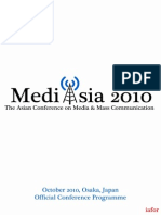 MediAsia 2010 - The Asian Conference on Media & Mass Communication