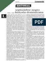 El septiembre negro de la historia dominicana