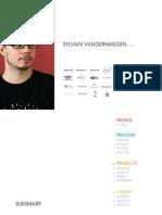 Sylvain Vanderhaegen Design Portfolio 2008