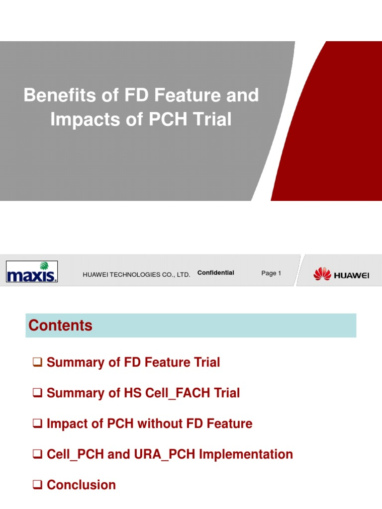 Benefits of FD Feature and Impacts of PCH Trial v1 1 | High