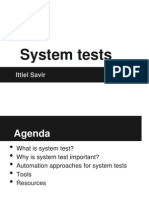 7. Automation - System Tests