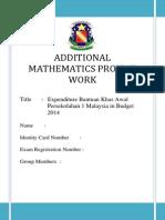 Add Math Project 2014 Johor State