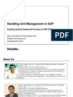 Handling Unit Management in SAP – Packing During Outbound Process