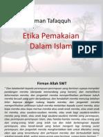 Laman Tafaqquh Etika Berpakaian Dalam Islam