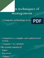 Modern Technique of Management