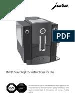 Manual Jura Impressa c60 English
