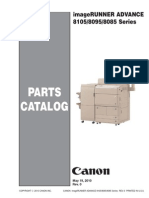 Canon Imagerunner Advance 8085, 8095, 8105 Series Parts List