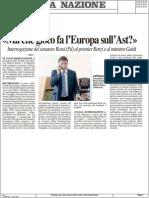 Ma che gioco fa l'Europa sull'AST? Interrogazione del Senatore Rossi al Premier e al Ministro Guidi