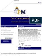Our Commonwealth (PM Newsletter), January 2009