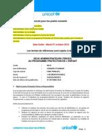 UNICEF Guinée Recrute Pour 6 Postes (Date Limite Mardi 07 Octobre 2014)