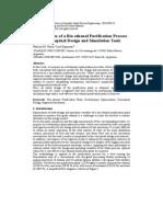 Optimisation of a Bio-ethanol Purification Process Using Conceptual Design and Simulation Tools