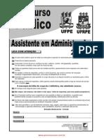 Assistente Em Administra o Covest Ufpe Ufrpe 2011