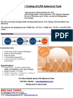 Year Testing of LPG Spherical Tank