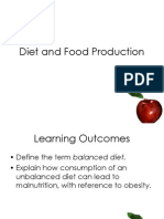 F212 Diet and Food Production