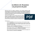 Programa de 30 puntos para un proyecto de país (IU)