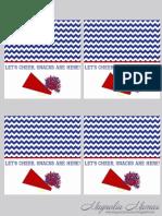 Printable Cheerleading Snack Tag