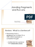 understanding fragments and runons wr