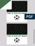 Soccer Snack Printable