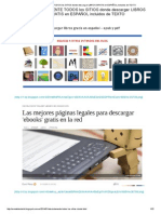 Absolutamente Todos Los Sitios Donde Descargar Libros Gratis en Español Incluidos de Texto