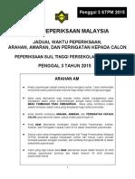 Jadual waktu P3 2015