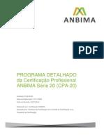 Programa Detalhado CPA20