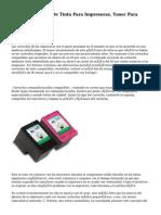 Cartuchos De Tinta Para Impresoras, Toner Para Impresora.