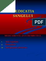 Medicatia sangelui
