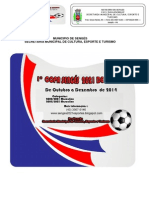 Regulamento Copa Sengés 2021 - Futsal