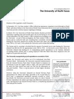 State Investigative Report on UNT