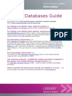 Biology databases guide