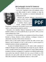 Concepţiile Pedagogice Ale Lui M. Eminescu