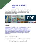 Estrategias Didácticas en Historia y Ciencias Sociale1