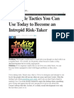 27 Tactics Risk Taking