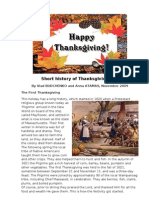 Short History of Thanksgiving Day