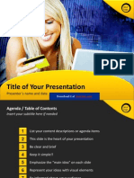 E-commerce PowerPoint Template by StratPro