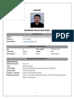 CV - HafiziSaari